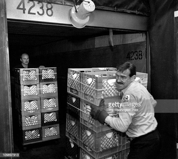 Rec'd 04/98 - PHOTOGRAPHER: Susan Biddle - TWP Maryland, various BRIEF DESCRIPTION: Giant trucker and traffic Dick Bailey, a Giant Food truck driver...