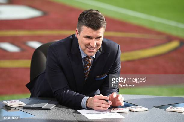 Rece Davis of ESPN College Football before the College Football Playoff Semifinal at the Rose Bowl Game between the Georgia Bulldogs and Oklahoma...