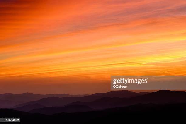 receding mountain range. - ogphoto stock photos and pictures