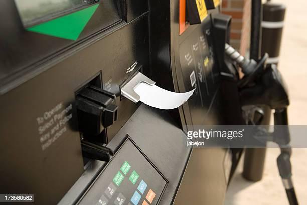 Receipt dispensing from gas pump machine