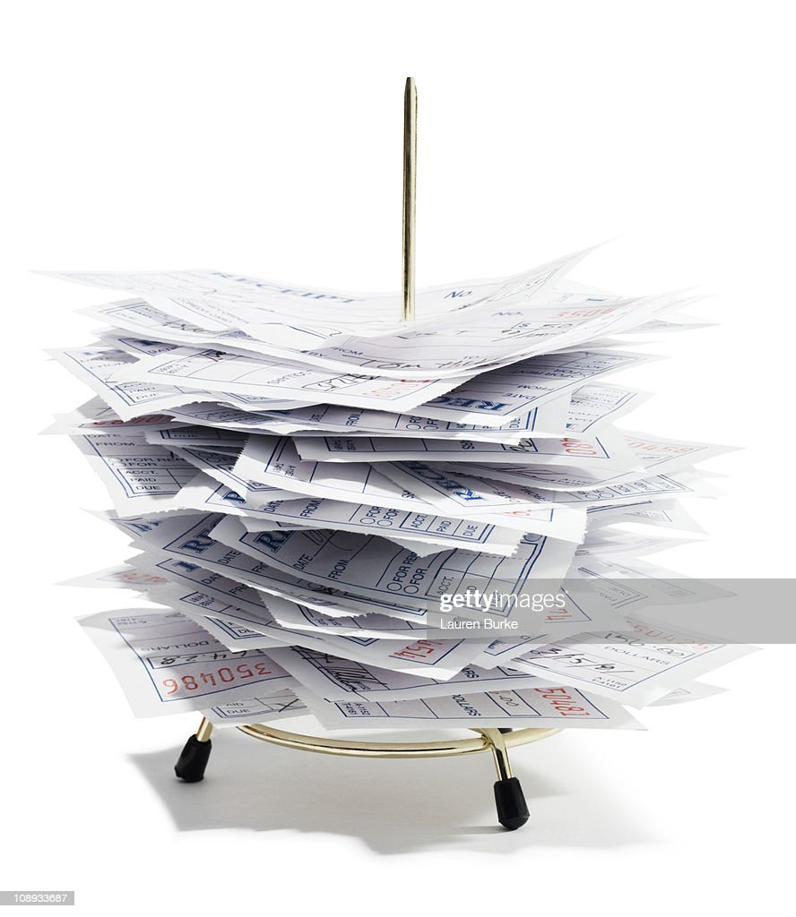 Receipt Spindle : Foto stock