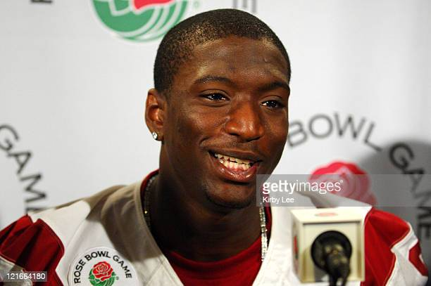 Receiver Dwayne Jarrett at Rose Bowl Media Day at the Home Depot Center in Carson, Calif. On Saturday, December 30, 2006.