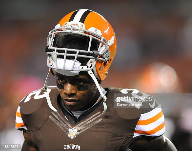 Receiver Josh Gordon of the Cleveland Browns walks around on the field before a game against the Buffalo BIlls at FirstEnergy Stadium in Cleveland...