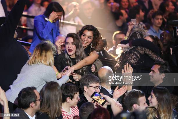 J receives award during the '32nd Victoires de la Musique 2017' at Le Zenith on February 10 2017 in Paris France