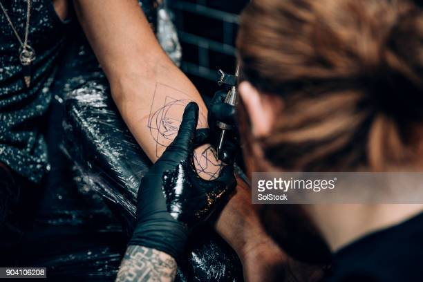 Receiving a Tattoo