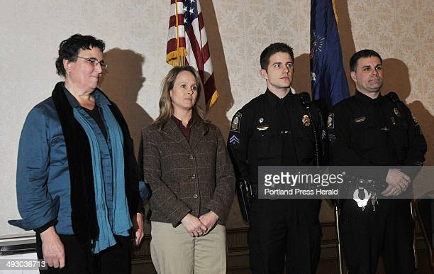 Receiving Commendatory Letters are L to R Marty Pottenger Detective Mary Sauschuck Officer Raymond Ruby and Officer Stephen Black at the fifth annual...