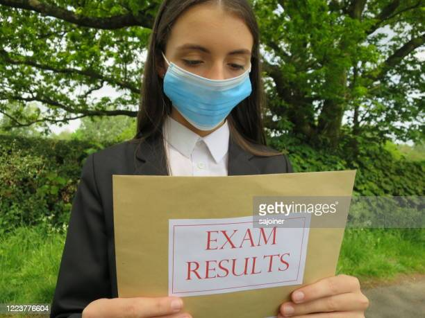 receiving exam results after lockdown - solutions stock pictures, royalty-free photos & images