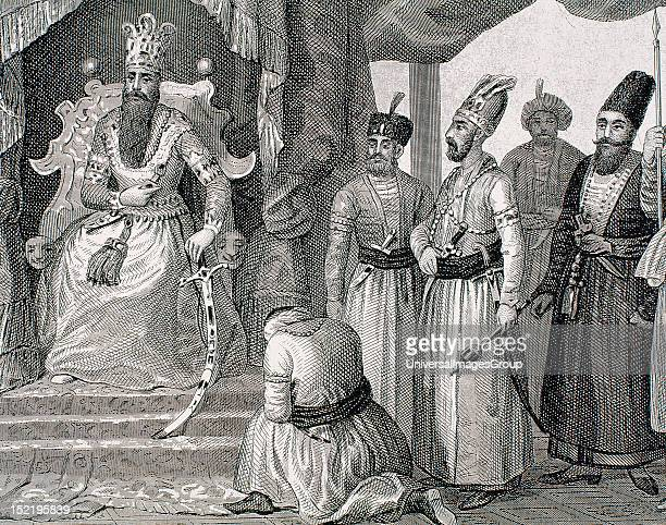 EMPIRE TURKEY SULTAN receiving some members of the Council in the Topkapi Palace courtroom ISTANBUL Engraving of the nineteenth century