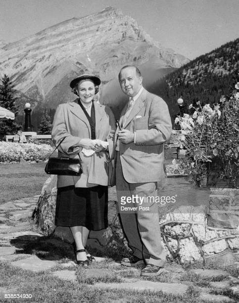 Recent guests at the Banff Springs hotel in the Canadian rockies were Mr and Mrs Barnet Mover of Washington D C Mr Nover is chief of the Washington...