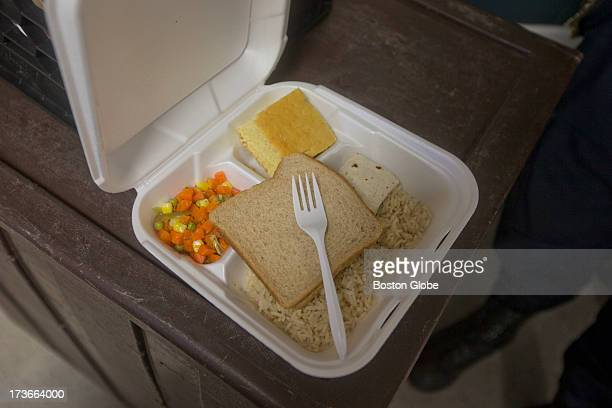 A recent lunch consisted of a burrito bread rice and vegetables at the Bristol County House of Correction where former New England Patriots player...
