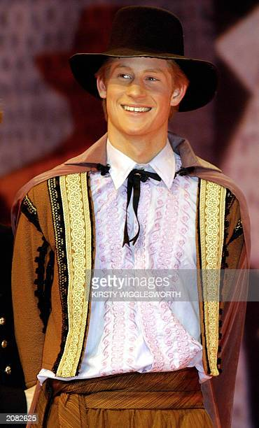 Recent photo of the Prince Harry the younger son of the Prince of Wales as Conrade in an Eton College production of 'Much Ado about Nothing'