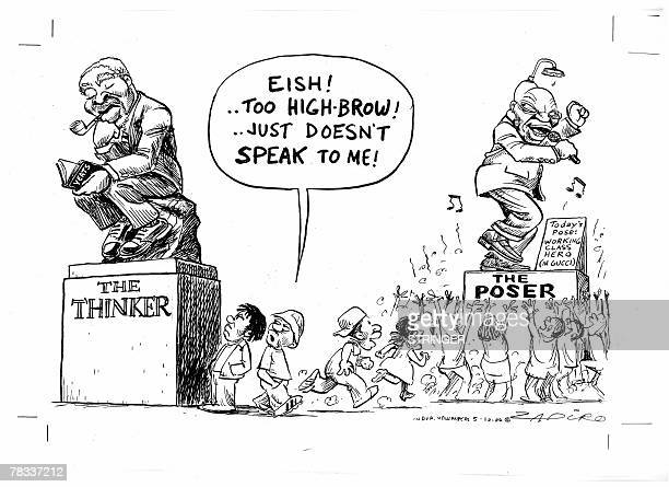 Recent picture of a hand out cartoon from South African Awardwinning cartoonist Zapiro otherwise known as Jonathan Shapiro taken at his home in Cape...
