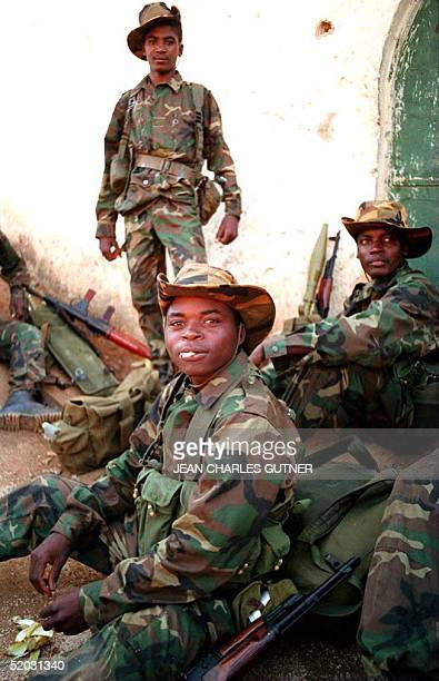 Recent picture showing Angolan government troops taking a rest during a patrol in Angola Angolan rebels will declare a unilateral ceasefire from 20...