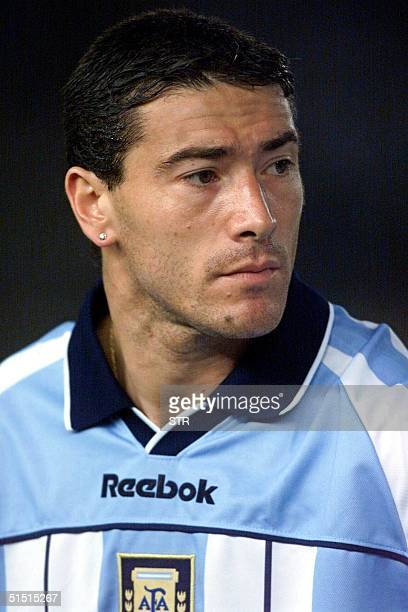 Recent portrait of Argentinian national soccer team midfielder Cristian 'Kily' Gonzalez Argentina is qualified for the 2002 FIFA World Cup taking...