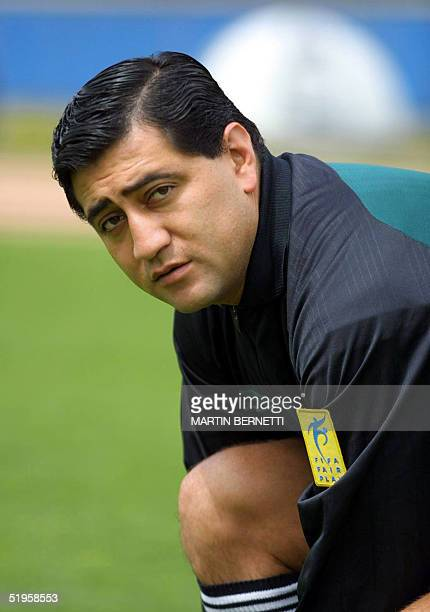 Recent portrait of Ecuadorian soccer referee Bayron Moreno, one of the 36 referees who will officiate during the 2002 FIFA World Cup Korea/Japan...