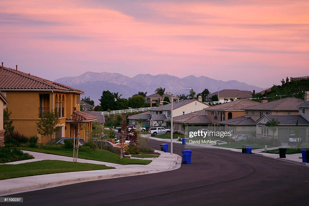 Recently built homes are seen in suburban neighborhoods on top of the San Andreas Rift Zone, the system of depressions in the ground between the parallel faults of the San Andreas earthquake fault, May 15, 2008 in the community of Highland, east of San Bernardino, California. New calculations reveal a 99.7 percent chance that a magnitude 6.7 quake or larger will strike by 2037, according to the first-ever statewide temblor forecast released by the scientists of the United States Geological (USGS), Southern California Earthquake Center and California Geological Survey last month. Scientists have particular concern for the people living along the southern portion of the 800-mile-long San Andreas Fault east of Los Angeles. This section of the fault has had very little slippage for more than 300 years and has built up immense pressure that could release an earthquake of historic proportions at any time. Such a quake could produce a sudden lateral movement of 23 to 32 feet and be would be among the largest ever recorded. Experts have predicted that a quake of magnitude-7.6 or greater on the southern San Andreas would kill thousands of people and cause many billions of dollars in damages, dwarfing the 1994 Northridge disaster near Los Angeles that killed 72 people, injured more than 9,000 and caused $25 billion in damage.