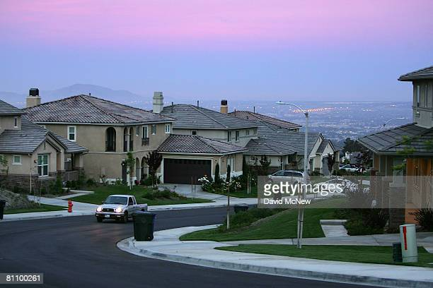Recently built homes are seen in suburban neighborhoods on top of the San Andreas Rift Zone, the system of depressions in the ground between the...