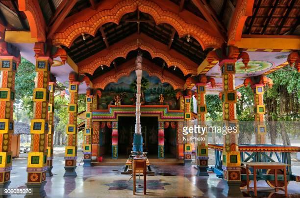 Recently constructed main prayer hall of the Karainagar Sri Muthumariamman Hindu Temple in Karainagar Jaffna Sri Lanka