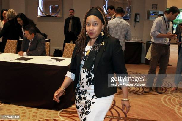 Recently elected NDP MPP for Kitchener Centre Laura Mae Lindo at the first caucus meeting in Toronto