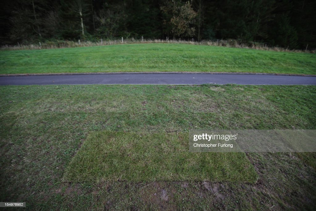 Recently laid turf is all that marks the grave of Jimmy Savile at Woodlands Cemetery on the first anniversary of his death on October 29, 2012 in Scarborough, United Kingdom. An elaborate head stone was recently removed from the grave of the television personality Jimmy Savile due to fears it could be defaced. One year after the death of the television and radio presenter a UK wide investigation into alleged child abuse has been launched with many alleged victims coming forward.
