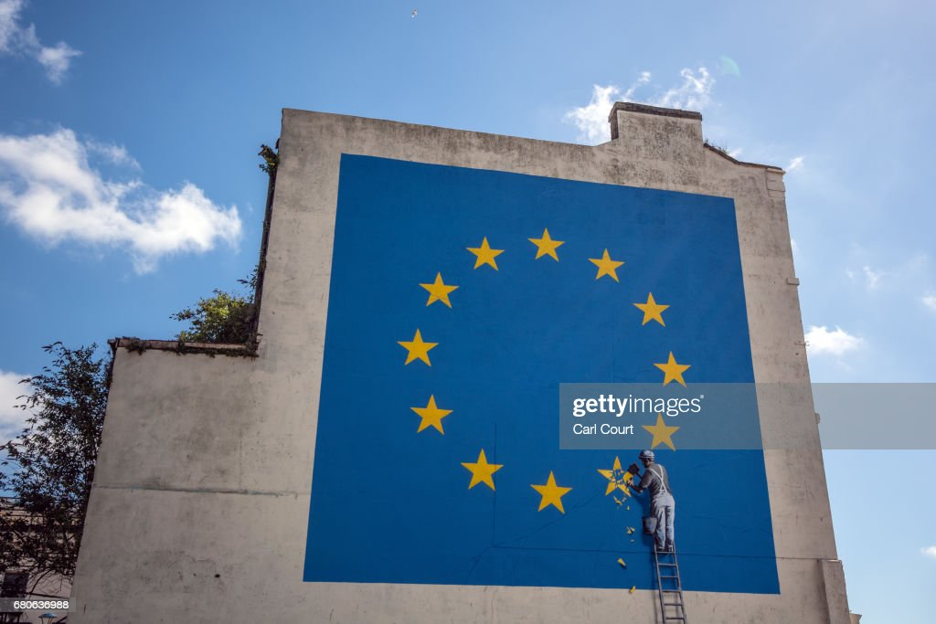 Banksy Brexit Mural Appears On A Building Close To Dover Ferry Port : News Photo