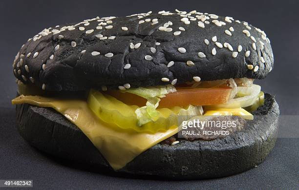 Recently released Burger King Halloween Whopper is seen on October 5 in Centreville Virginia The burger inspired by the Black Burger in Japan is made...