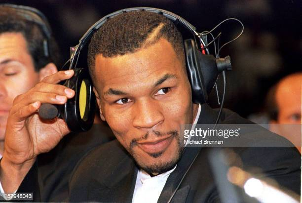 Recently released from jail, former heavyweight boxing champion Mike Tyson commentates for the Showtime network for the IBF junior middleweight fight...