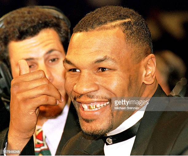 Recently released from jail former heavyweight boxing champion Mike Tyson commentates for the Showtime network for the IBF junior middleweight fight...