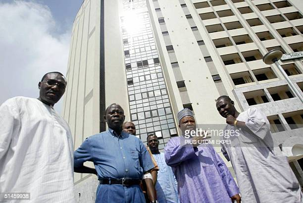 Recently released Nigerian Labour Congress leader Adams Oshiomhole and Deputy Senate President Ibrahim Mantu discuss a proposed strike to protest...