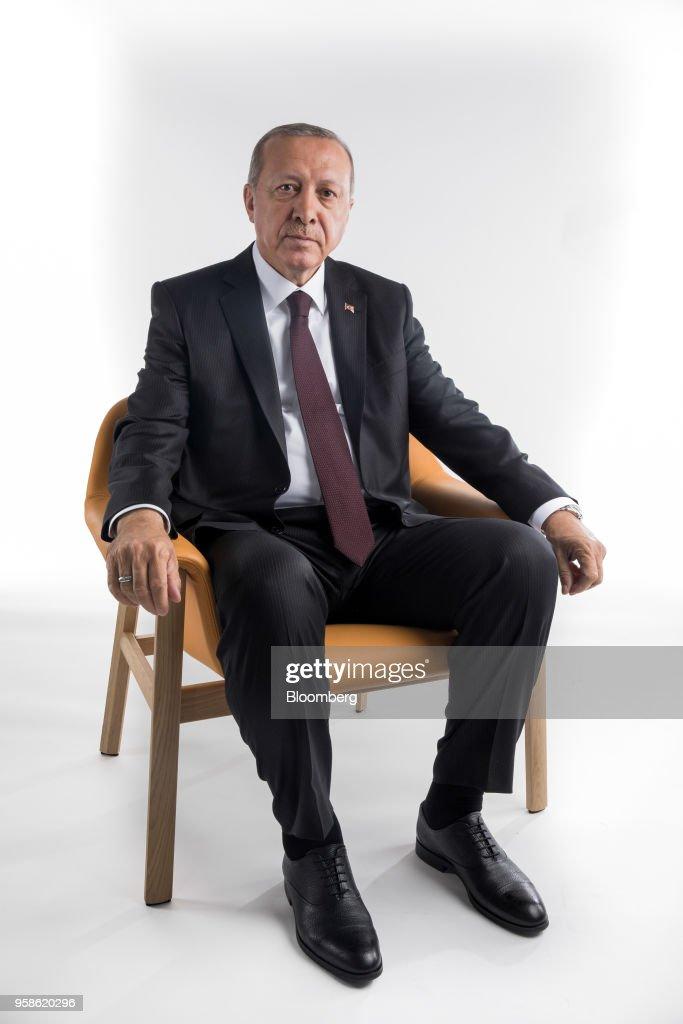 GBR: Studio Portraits Of Turkey's President Recep Erdogan