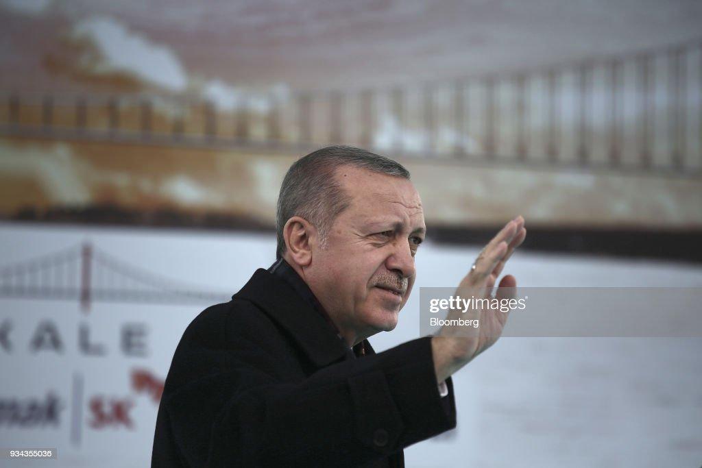 Turkey's President Recep Tayyip Erdogan Visits Dardanelles