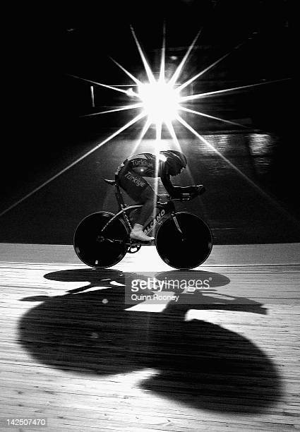 Recep Unalan of Turkey competes in the Men's Omnium Individual Pursuit during day three of the 2012 UCI Track Cycling World Championships at Hisense...