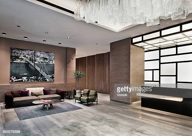 Reception and lobby in new multifunctional complex in Maslak District (Istanbul)