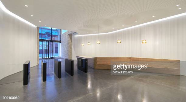 Reception and security barrier Turnmill Building London United Kingdom Architect Piercy Company 2015