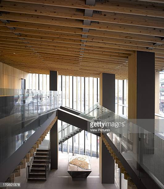 Reception area Asakusa Tourist Infomation Centre Cultural Institution Asia Japan Kengo Kuma