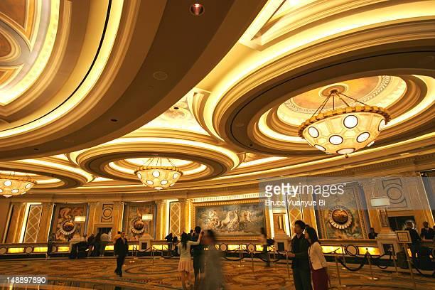 Reception area of Bellagio Hotel and Casino.