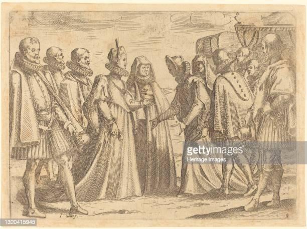 Reception at Mantua, 1612. Artist Jacques Callot.