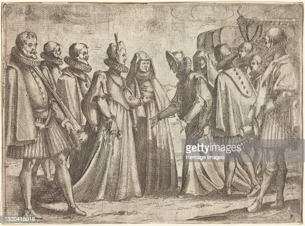 Reception at Mantua [recto], 1612. Artist Jacques Callot.