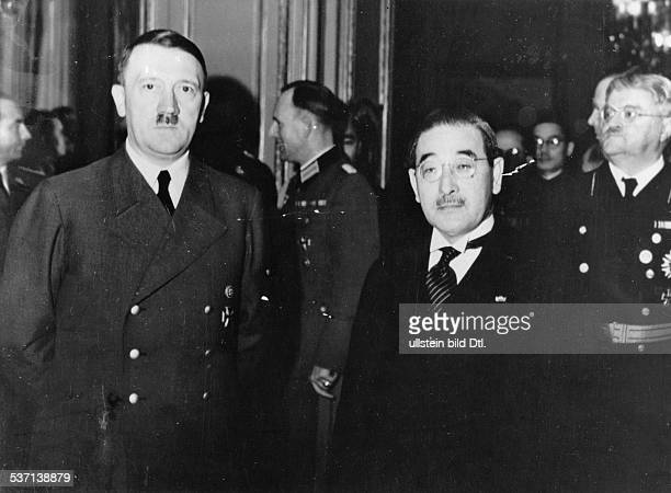 Reception at the Japanese embassy in Berlin on the occasion of the 2600th anniversary of the Japanese Empire next to Hitler ambassador Saburo Kurusu...