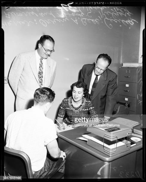Reception Center opening Southern Reception Center and Clinic 16 September 1954 Doctor Harry C Brickman Doctor SM Diehl Orrin A Bell Cecelia Alvares...