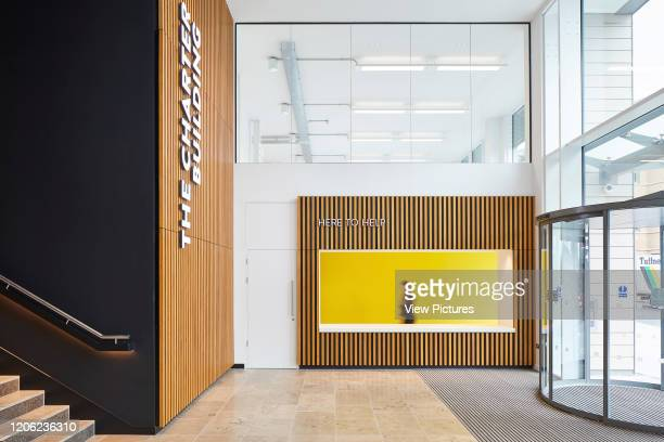 Reception desk and building entrance The Charter Building Uxbridge United Kingdom Architect dna architecture 2017