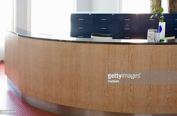 Reception desk in a doctor?s surgery