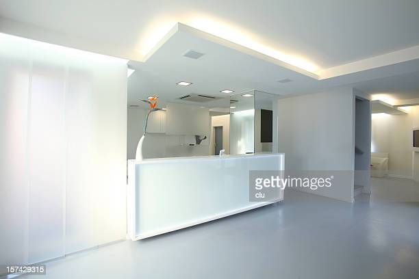 reception desk - ceiling stock pictures, royalty-free photos & images