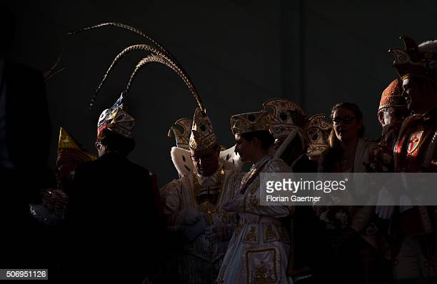 Reception for members of German Carnival Clubs in the Chancellery on January 26, 2016 in Berlin, Germany.