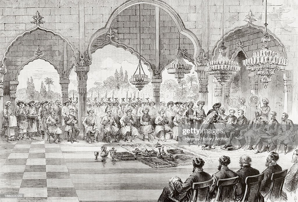 Reception For The Governor General Of India By The Rajah Of Lucknow In 1868 : News Photo