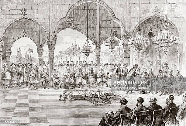 Reception For The Governor General Of India By The Rajah Of Lucknow In 1868 From L'univers Illustre Published In Paris In 1868