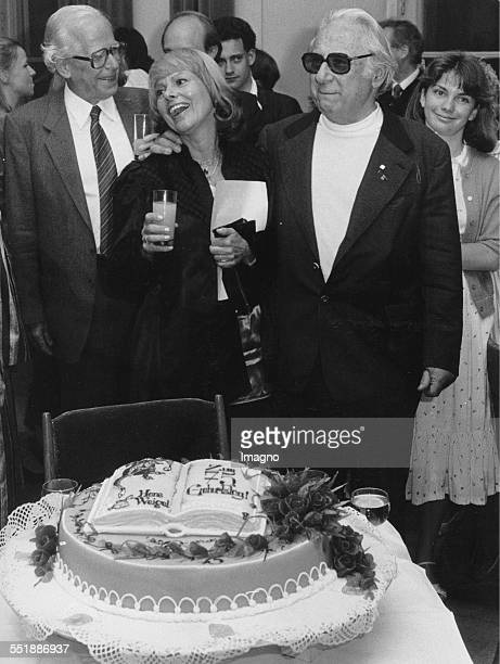 Reception for the writer and theater critic Hans Weigl on his 75th birthday together with the Austrian actress Elfriede Ott Grazer Schauspielhaus...