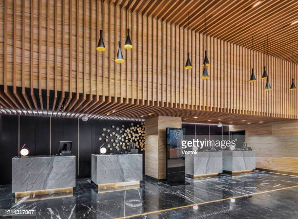 reception in a luxury hotel in moscow - lobby stock pictures, royalty-free photos & images