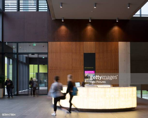 Reception John Henry Brookes Building Oxford Brookes University Oxford United Kingdom Architect Design Engine Architects Ltd with SpeirsMajor 2014