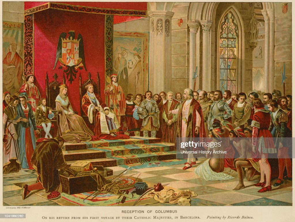 Reception Of Columbus On His Return From First Voyage By Their Catholic Majesties In